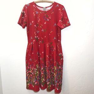 Lularoe Amelia Dress Floral Women's 3XL